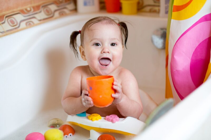 toddler drinks soapy bathwater